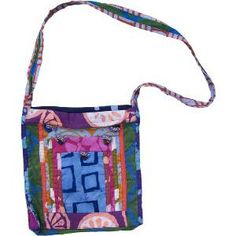 Urban Explorer Bag-Batik Patchwork-Assorted - Made from recycled fabric scraps, so each one is unique! Three overlapping pockets on outside with loop case using hand-made African beads. Africa Craft, Go Bags, Things To Buy, Stuff To Buy, African Beads, Recycled Fabric, Fair Trade, 5 D, Diaper Bag