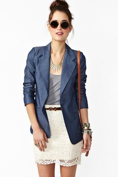 Beach Club Blazer in Chambray ♥ outfit in general really ♥