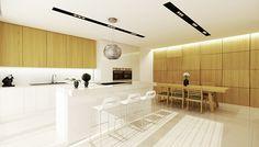 Interior design of apartment in Bratislava by cubica interior design studio, via Behance