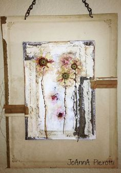 """Mixed Media Collage """"Spring Dance"""" - Moss Hill Studio"""