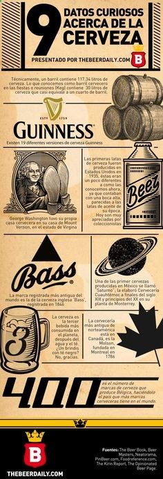 9 datos curiosos acerca de la cerveza