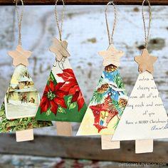 Hecho a mano ornamentos de navidad de la enagua Junktion s