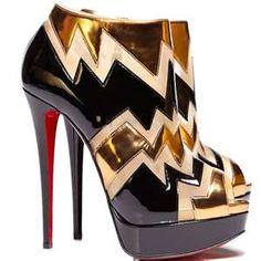 Black & Gold Louboutin Bootie