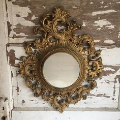 Vintage Burwood Mirror - Syroco Hollywood Regency Gold tone Molded Mirror by TheClassicButterfly on Etsy Hollywood Regency Decor, Vintage Hollywood, Gold Framed Mirror, Mirror Mirror, Frame Mirrors, Frames, Spiegel Design, Best Home Interior Design, Interior Ideas