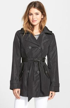 Ellen Tracy Packable Trench Coat with Detachable Hood (Regular & Petite) available at #Nordstrom