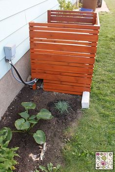 Cover Up That Unsightly AC! hometalk. gardening. rootsandshootsgarden. privacy. panels. gardening. landscaping.