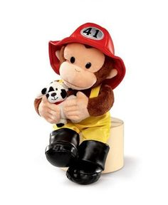 Russ Berrie 12Inch Curious George Fireman *** Want to know more, click on the image.