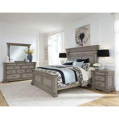 56e1f147338c Madison Ridge 6 Piece Bedroom Set in Bluff Grey Finish by Pulaski -  PUL-P091170
