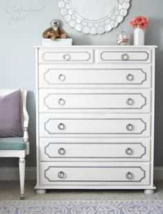 Our overlay patterns help create your dream bedroom decor. The Anne Kit from My O'verlays is a great IKEA furniture hack for your tarva dresser. Get yours today! Furniture Makeover, Diy Furniture, Cream Furniture, Refurbishing Furniture, Furniture Design, Painting Furniture, Home Bedroom, Bedroom Decor, Bedrooms