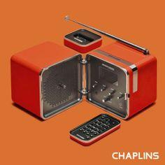 Brionvega RadioCubo Cube DAB/Internet Radio with Remote Control and Docking Station in Sunny Orange by Marco Zanuso and Richard Sapper #brionvega #audio #design #soundsystem #music #retro