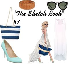 """""The Sketch Book"" #1"" by abrilmrsmalik ❤ liked on Polyvore"