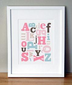 Every #nursery needs a good #AlphabetPrint!
