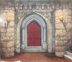 A mural I painted as a part of a scenic painting course.