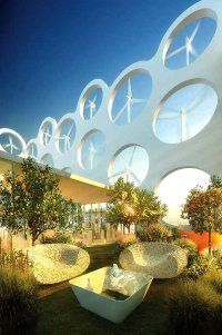 Building in Miami using Wind Turbines and Other Eco-Technology to make it self-sustaining.