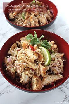 Ayam Sambal Matah Bali - Pan Fried Chicken with Balinese Salsa
