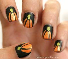 Nail Art: Fall Pumpkin Nails