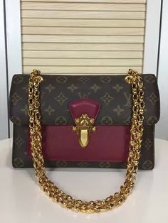 Louis Vuitton Monogram Canvas Victoire Rose Red.  View more LV handbags at http://www.luxtime.su/louis-vuitton-handbags