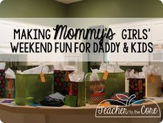 Mommy is leaving for a Girls' Weekend! 5 Tips to Make it Fun for Everyone