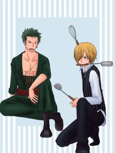 Zoro x Sanji - One Piece<<< This picture make me happy, that's make me happy because it's funny ! So funny. Really hihihi ;).