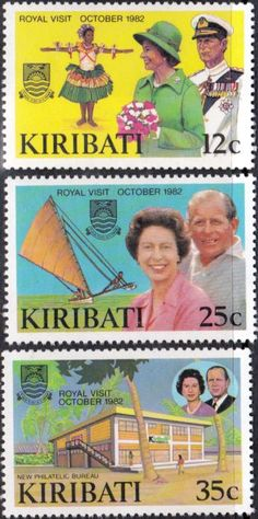 Kiribati 1981 Island Maps Set Fine Used Set Fine Mint SG 145/8 Scott 369/72 Other Kiribati Stamps HERE