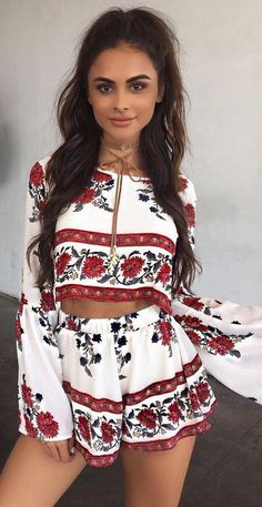 #summer #tigermist #outfits   Printed Two Piece Set