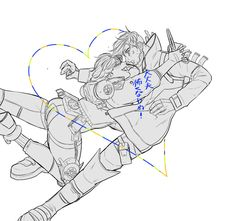 Anime Girl Cute, I Love Anime, Taejoon Park, Crypto Apex Legends, Character Art, Character Design, Legend Images, Sketch Poses, Ship Drawing