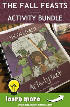 The Fall Feasts activity book for kids Bible Activities, Autumn Activities, Activities For Kids, Activity Books, Yom Teruah, Yom Kippur, Jewish Festivals, Fall Festivals, Feasts Of The Lord