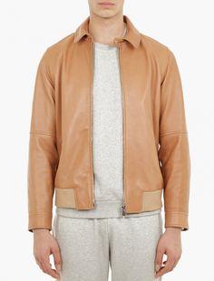 MELINDAGLOSS,Brown Lambskin Leather Jacket