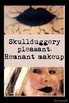 For all you skullduggery pleasant fans out there, here is a quick and easy Halloween costume: all you need is black eyeliner, some comfortable clothes, a sense of humour and voila! You are now the victim of a Remnant attack!