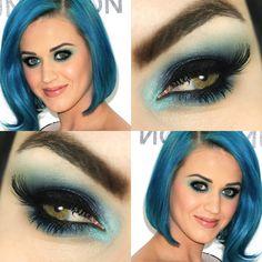 Tutorial – maquiagem azul inspirada em Katy Perry