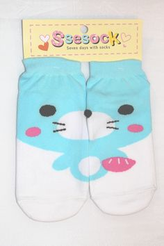 It's a cute pair of ankle socks with an Otter picture on it.  Combine each half of the sock to make a complete picture!