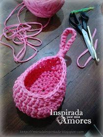 Crochet Hanging Basket Patterns – Knitting And We Cute Crochet, Crochet Crafts, Crochet Projects, Knitting Patterns, Crochet Patterns, Crochet Teddy Bear Pattern, Hanging Baskets, Crochet Flowers, Needlework