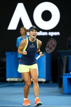 Angelique Kerber Photos - Angelique Kerber of Germany celebrates winning her third round match against Maria Sharapova of Russia on day six of the 2018 Australian Open at Melbourne Park on January 20, 2018 in Melbourne, Australia. - Angelique Kerber Photos - 2 of 5457