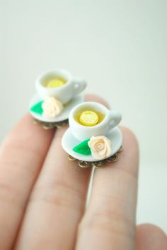 Tea Time Earrings. Had I seen these for your 3rd birthday party!