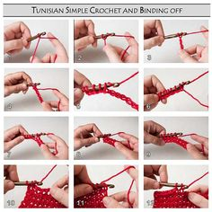 Ravelry: Left-Handed Instruction Pictures for Tunisian Crochet pattern by Patrick Hassel-Zein