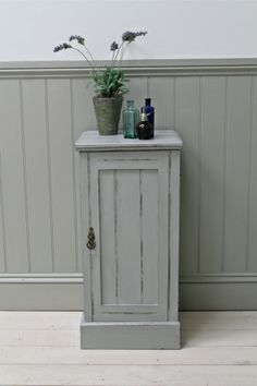 Distressed=painted Bedside Cabinet - For Sale | Distressed But Not Forsaken