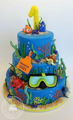 Finding Dory/Nemo theme cake