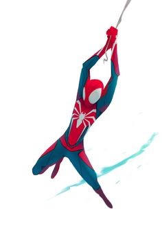 barracrewda: With Great Power comes Great Responsibility Spiderman Poses, Spiderman Kunst, Spiderman Drawing, Amazing Spiderman, Marvel Art, Marvel Dc Comics, The Avengers, Marvel Drawings, Action Poses