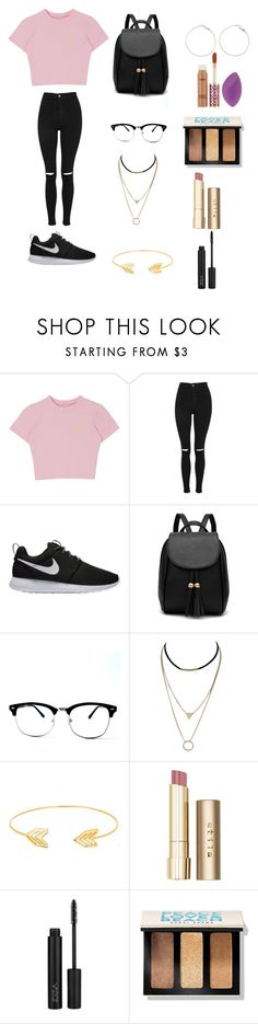 """""""schhol"""" by student63272 on Polyvore featuring Topshop, NIKE, Lord & Taylor, Stila, Bobbi Brown Cosmetics and tarte"""