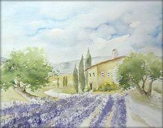 """""""Provence"""" - Aquarell / Watercolor - 24 x 30 cm"""