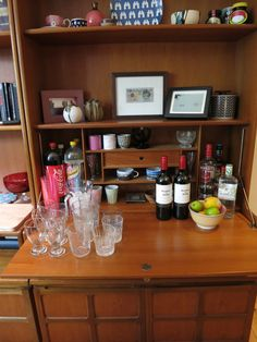 The drinks cabinet stocked and ready!