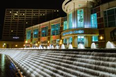 Triangle Park in downtown Lexington. THE most fun fountain to play in EVER.