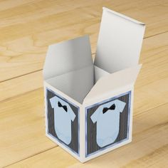 Little Man Baby Boy Shower Favor Box