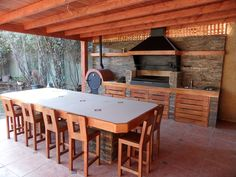 QUINCHO B14 Outdoor Grill Area, Pizza Oven Outdoor, Backyard Smokers, Backyard Patio, Bbq Equipment, Outside Fireplace, Grill Design, Timber House, Summer Kitchen