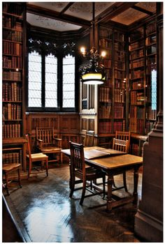 The Reading Room, John Rylands Library, Manchester. I so want a library in my house! Library Room, Dream Library, Library Ideas, Future Library, Cozy Library, Library Ladder, Library Table, Library Design, Loft Design