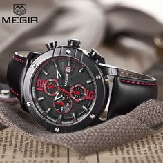 26.90$  Buy here - http://alighi.shopchina.info/go.php?t=32811687027 - Megir Functoinal Mens Watches Top Brand Luxury Clock Men Military Sport Wristwatch Leather Quartz Watch Relojes Hombre 2017 New 26.90$ #magazineonlinebeautiful