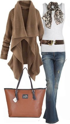 Coach purse outfit #cheapestcoachbagssale Change the jeans to a skirt and I'm on board!