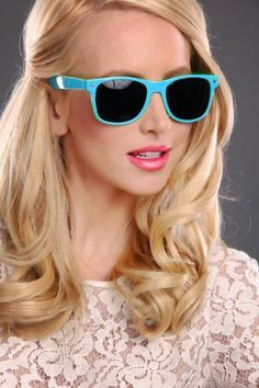 Blue Multi Color Block Med Tint Lenses Sunglasses