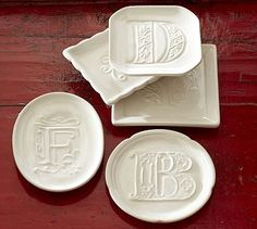 LOVE these new tibit plates from @Pottery Barn - what a great hostess gift!