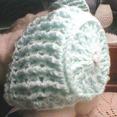 Crocheted Baby Bonnet pattern